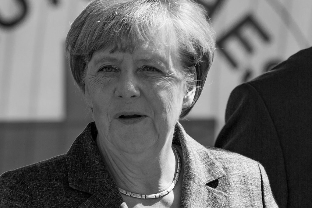 Besuch der Bundeskanzlerin in Heidenau